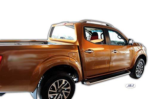 J&J AUTOMOTIVE Windabweiser Regenabweiser für Nissan NAVARA ab 2014 2tlg HEKO dunkel