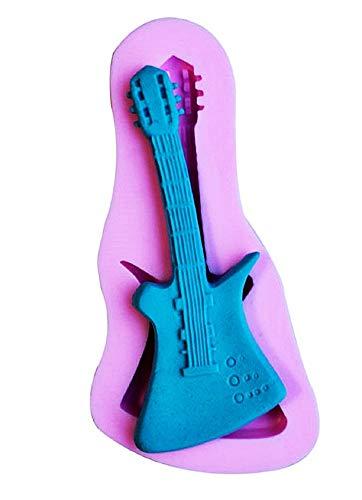 Lovelegis Molde de Silicona para Guitarra eléctrica - Pasta de azúcar - fondants - tortas - panqueques - Magdalenas - Decoraciones - Uso de Alimentos - Cocina - Idea de Regalo de cumpleaños