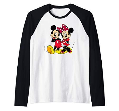 Disney Big Mickey and Minnie Mouse Raglan Baseball Tee