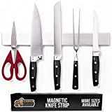 Gorilla Grip Premium Magnetic Knife Strip, 14 Inch Bar, Rust Resistant Stainless Steel, Organize, Store Knives on Magnet Bar Securely, Easy Install Wall Mounted Holder, Kitchen and Workspace Versatile