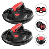 -Rotating Pushup Handles - Great for Perfect Push up for Men, Woman, Nicely Designed for Smooth Rotation, for Wrist Upper arm Chest Biceps and Triceps Your #1 go to for a Quick Solid Workout (RED)