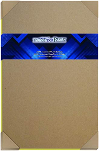 15 Sheets Chipboard 24pt (Point) 12 X 18 Inches Light Weight Large|Poster Size .024 Caliper Thickness Cardboard Craft Packaging Brown Kraft Paper Board
