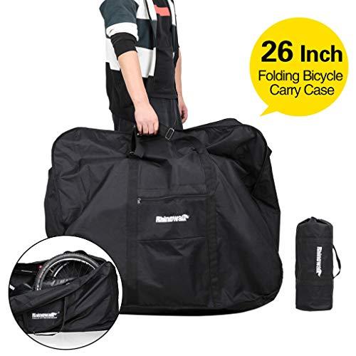 Janly Clearance Sale  Sports & Outdoors  Folding Bike Cover Bike Bag With Shoulder Strap Bike Transport Bag Outdoor Trave , Bike Accessories (Black)