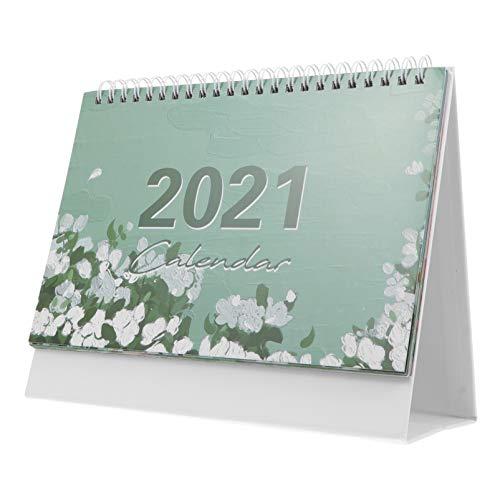 jojofuny 2021 Calendario de Escritorio Pintura Al Óleo Decorativa Escritorio Flip Calendario Mensual 12 Meses Stand up Calendar 365 Horarios Planificador para Oficina Escuela Colgante de