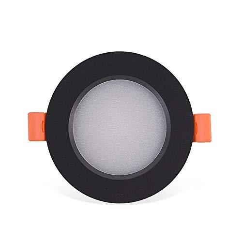 MAONB Runde LED-Panel Licht Super Bright Anti-Glare-Decken-Scheinwerfer 3w, 5w, 7w, 9w, 12w Energiespar Dekorative Wohnzimmer Schlafzimmer Büro Ultradünnes Deckeneinbauleuchte (Color : White light)