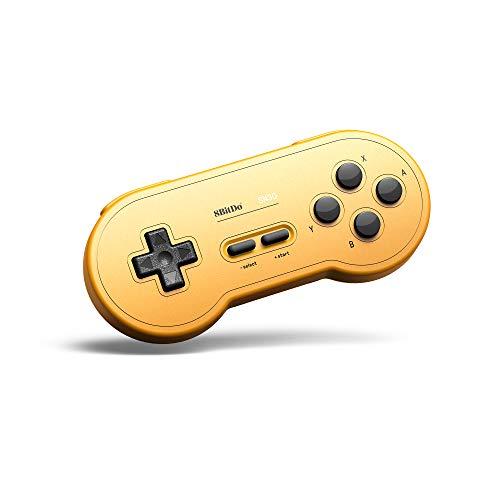Gam3Gear 8bitdo SN30 GP Amarillo Edition Controller Bluetooth inalámbrico Gamepad para Nintendo Switch, Windows, Android, macOS, Steam con Llavero Gratis