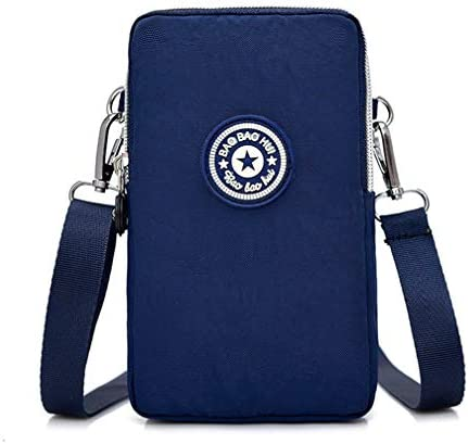 Leisure 3 Layers Small Crossbody Bag Cell Phone Purse Pouch Wristband Wallet Armband for Samsung product image