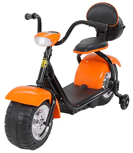 Actionbikes Motors Kinder Elektromotorrad Harley Scooter BT306 - 15 Watt Motor – Weichgummiring Reifen (Orange)