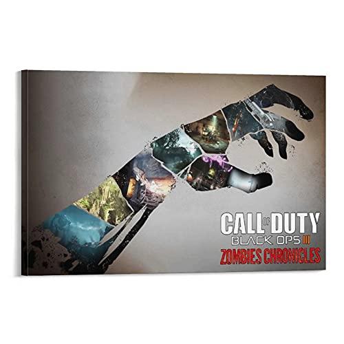 Call of Duty Black Ops 3 Game Poster Zombies Crónicas Arte único Cuadro Lienzo Impresiones Pintura Sala Decoración de Pared Rectángulo Fotográfico Ilustraciones Halloween Regalos