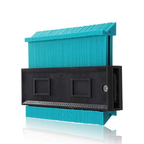 ZCZUOX Contorno de Perfil de 5 Pulgadas Calibrador de Azulejos Azulejos Laminados Conformación de Bordes Regla de Medida de Madera Duplicador de Medidor de Contorno de ABS. (125mm)