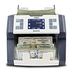 Protects your business from counterfeits. Domino includes ultraviolet and magnetic ink counterfeit detection to ensure all collected cash is authentic. Multiple modes for all your business's money counting needs: Mixed Denomination, Sort, Batch, Add ...