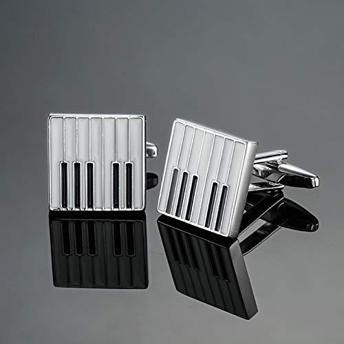 ZXWDL manchetknopen hoogwaardige herenhemden modemerken sieraden manchetknopen muziek viool/piano/trompet manchetknopen