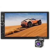 Double Din Car Stereo Bluetooth,7 inch HD Touch Screen MP5 Player Car Audio