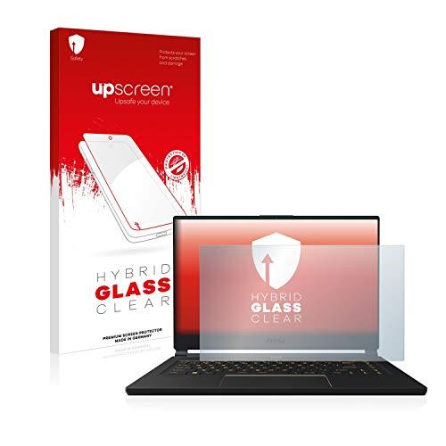 upscreen Hybrid Glass Panzerglas Schutzfolie kompatibel mit MSI GE75 8SF-256DC 9H Panzerglas-Folie