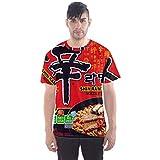 Dcustomwatch Ramen Korean Spicy Instant Noodle Fans Art Design 3D Full Print T-Shirt (Men, 2XL)