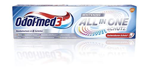 Odol-med3 All in One Schutz Whitening Zahnpasta, 75 ml.
