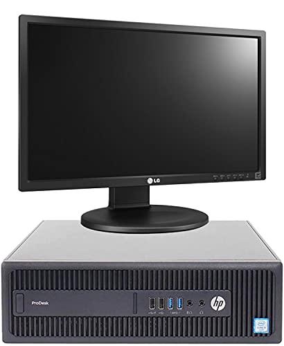 Postazione Completa ALL in One HP prodesk 600 G2 SFF I5 6400 16GB RAM HDD 500 + SSD 128 Wi-Fi Monitor 24' + Web CAM Win 10 (Ricondizionato)