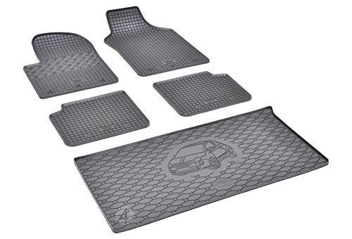 Passende Gummimatten und Kofferraumwanne Set geeignet für FIAT 500 ab 2015 EIN Set