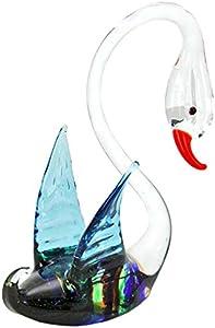 GlassOfVenice Cisne rayado de cristal de murano