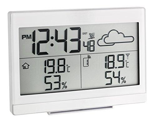 TFA Dostmann Casa Funk-Wetterstation, Wettervorhersage, Außentemperatur, Innentemperatur, Luftfeuchtigkeit, mit Funkuhr