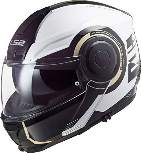 LS2 FF902 Scope Arch Casco Modular Blanco/Titanio M (57/58)
