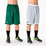 Joma Pantalones Cortos Short Basket Reversible Rookie Verde-Blanco, Niños, XS