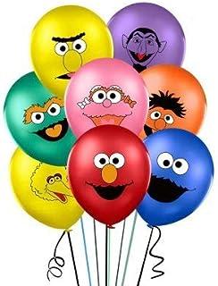 Balloons Sesame Street party Elmo Party Balloons Elmo Birthday Balloons Elmo Foil Mylar Latex Balloons Sesame Street Party Decorations