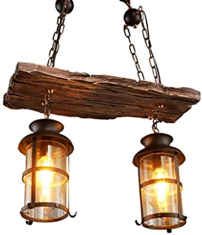 JINWELL Vintage Pendelleuchte Retro Eisen Pendelleuchte Retro Holz Hngelampe Vintage E27  2 3 4 KpfeEdison Hngende Lampe Glas Kronleuchter Vintage Wohnzimmer Schlafzimmer Antike Pendelleuchte Deko