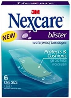 Nexcare BWB-06 Blister Waterproof Bandages, One Size, 6 Count
