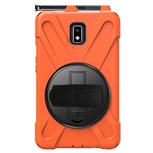 Funda para Samsung Galaxy Tab Active 2 con soporte para bolígrafo, resistente a los golpes, de cuerpo completo con correa hombro y mano de 8 pulgadas SM-T390, SM-T395, SM-T397