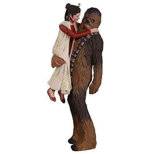 Hallmark Keepsake Christmas Ornament 2020, Star Wars: The Empire Strikes Back Princess Leia and Chewbacca