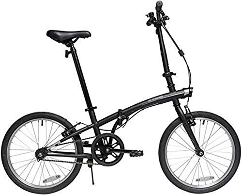 HCMNME Durable Bicycle, Kids' Bikes Children's Folding Bike 20 Inch Men and Women Outdoor Bicycle Children's Travel Bike Students Practice Bicycles Children's Pedal Bicycle (Color : Black) Outdo