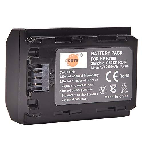 DSTE 7.2V 2000mAh NP-FZ100 FZ100 Recargable Digital Batería Compatible con Sony α1 A7R3 A7R III α7R III α7R3 Alpha 9 Alpha 9R Alpha a9R Alpha a9S Alpha 9S cámara as A7RM3