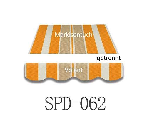 Home & Trends Preiswert Markisen Tuch Markisenbespannung Ersatzstoffe Diverse Fraben Maße 4 x 3 m Markisenstoffen inkl. Volant fertig genäht mit Bordeux (SPD062)