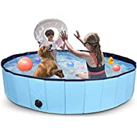 OceanTeda Foldable Plastic Pool for Kids Dogs Indoor and Outdoor