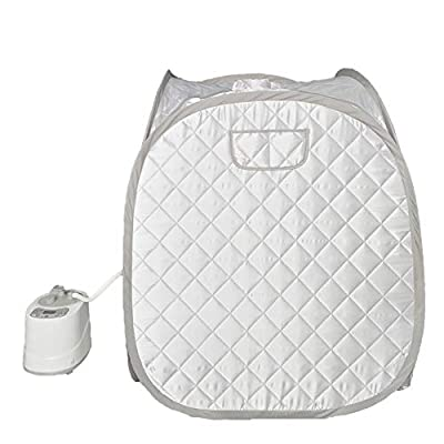 Smartmak Steam Sauna, Portable One Person at Home Full Body Tent 2L Steamer with Remote Control -Grey