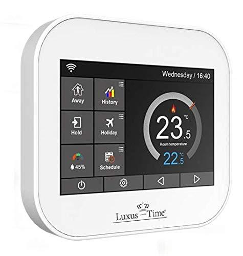 Raumthermostat LX-MC6 Touchscreen für Fußbodenheizung, Heiß Wasser mit APP, WiFi in Weiß Amazone Alexa Google Home Smart Home Luxus-Time