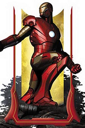 Imán–Marvel–Iron Man Pose con regalos juguetes m-irn-0001