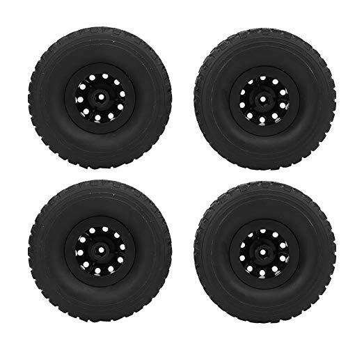 RC Autoreifen, 4PCS Rubber Wheel Reifen Antiwear Passt für WPL C-34 1/16 4WD Military Truck