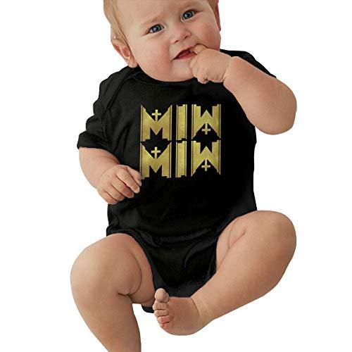 Johnson Hop Motionless in White Music Band Neugeborene Mädchen Jungen Baby Strampler Kurzarm Kleinkind Jumpsuit, Schwarz , 6 m