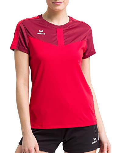 erima Squad Funktions Camiseta, Mujer, Granate y Rojo, 42