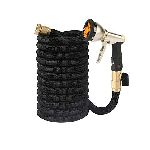 Flexibele tuinslang, 25-100 m, rekbaar, van rubber, licht en flexibel.