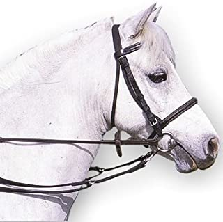 William Hunter Equestrian Padded Anti-Grazing Grass Reins with Trigger Clips in Brown or Black