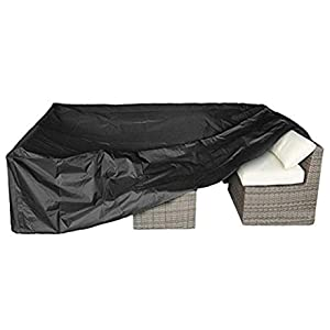 """Patio Furniture Set Cover Outdoor Sectional Sofa Set Covers Outdoor Table and Chair Set Covers Water Resistant Large 126"""" L x 63"""" W x 28"""" H"""
