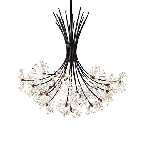 ZCYY Lámpara de araña, Lámpara de araña de Cristal G9, Lámpara de Techo Industrial Moderna de 19 Luces, Iluminación Colgante de Rama de Mediados de Siglo, Lámpara de araña Starburst en