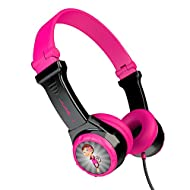JLab Audio Kids Headphones, JBuddies Folding Headphones for Kids, On-Ear, Wired and Kid Safe with Vo...