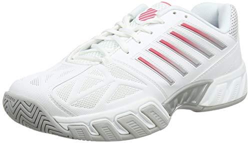 K-Swiss Women's Bigshot Light 3 Tennis Shoe (White/Calypso Coral, 5)