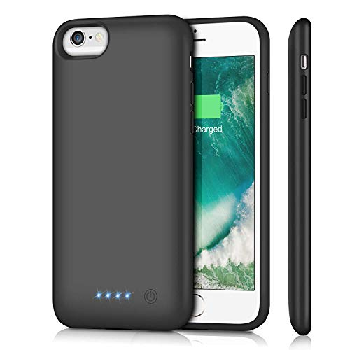 5000mAh Rechargeable Coque avec Batterie Noir Externe Chargeur Portable Power Bank Battery Case Juice Pack Antichoc Housse de Protection pour iPhone XR FugouSell Coque Batterie iPhone XR