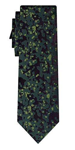 Cravate soie camouflage pattern green