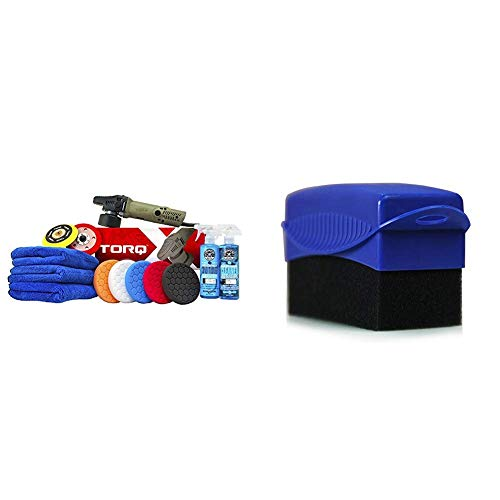 Chemical Guys BUF_209X Complete Detailing Kit (13 Items, TORQ TORQX) with Tire and Trim Contour Applicator